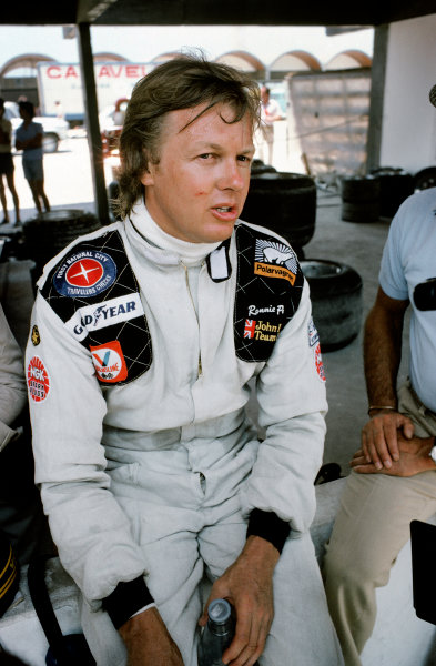 Kyalami, South Africa. 3 - 5 March 1977. Ronnie Peterson (Tyrrell P34-Ford), retired, portrait.  World Copyright: LAT Photographic. Ref:  77SA24
