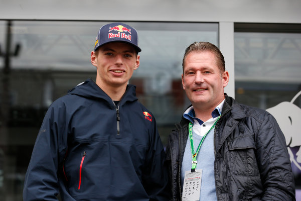 Spa-Francorchamps, Spa, Belgium. Thursday 21 August 2014. Max Verstappen, Toro Rosso, and father Jos Verstappen. World Copyright: Steven Tee/LAT Photographic. ref: Digital Image _L4R0816