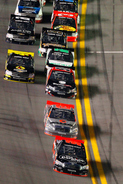 21-22 February, 2013, Daytona Beach, Florida USA Johnny Sauter and Todd Bodine.(c)2013, Russell LaBounty LAT Photo USA .