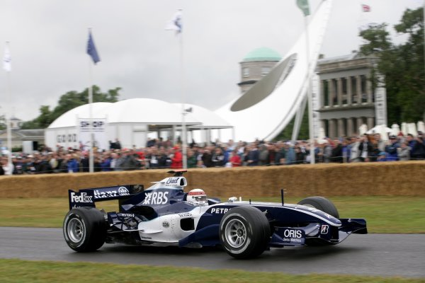 2006 Goodwood Festival of Speed.Goodwood Estate, West Sussex. 7th - 9th July 2006.Jackie Stewart driving a Williams FW28 F1.World Copyright: Gary Hawkins/LAT Photographic.ref: Digital Image Only.