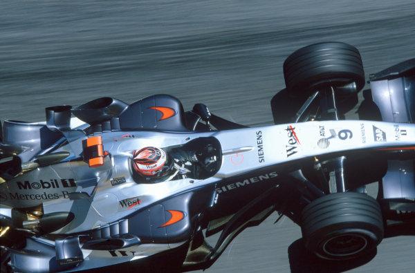 2005 Monaco Grand PrixMonte Carlo, Monaco. 19th - 22nd May Kimi Raikkonen, McLaren Mercedes MP4-20. Action. World Copyright: Charles Coates/LAT Photographic ref: 35mm Image 05Monaco37