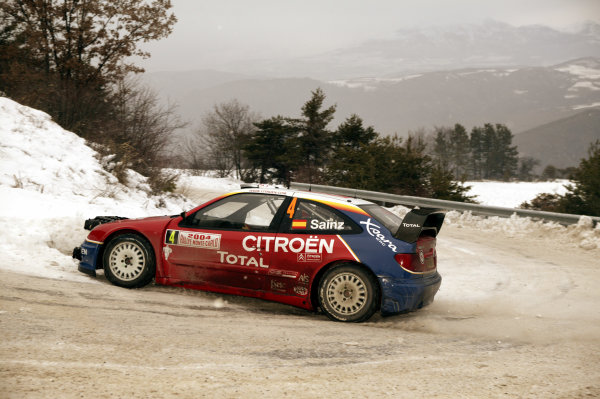 2004 FIA World Rally Champs. Round one, Monte Carlo Rally.22nd-25th January 2004.Carlos Sainz, Citroen, Action.World Copyright: McKlein/LAT