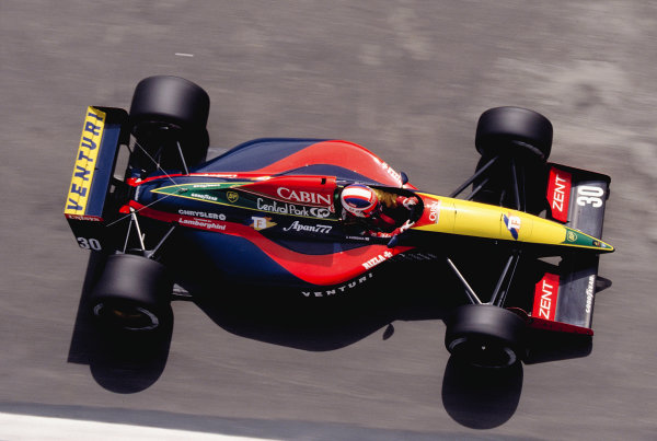 1992 Spanish Grand Prix.Catalunya, Barcelona, Spain. 1-3 May 1992.Ukyo Katayama (Venturi Larrousse LC92 Lamborghini).Ref-92 ESP 30.World Copyright - LAT Photographic