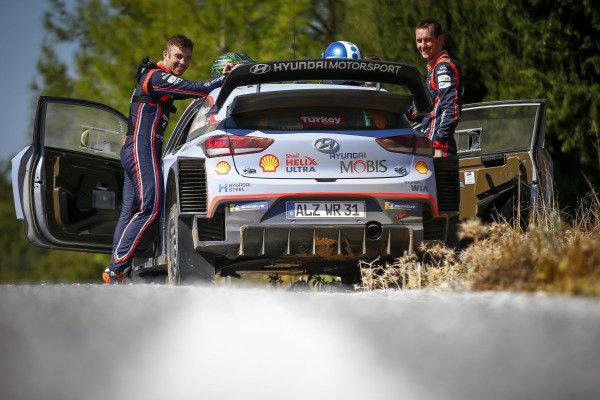Hayden Paddon and Sebastian Marshall, Hyundai Motorsport, Hyundai i20 Coupé WRC 2018,