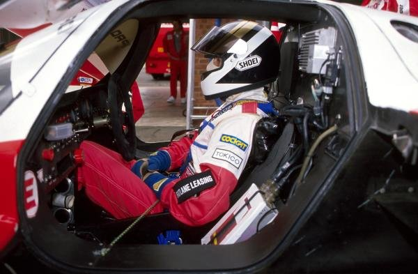 Johnny Dumfries (GBR) in the cockpit of the TOM'S Toyota 90 CV.World Sportscar Championship, 1990.BEST IMAGE