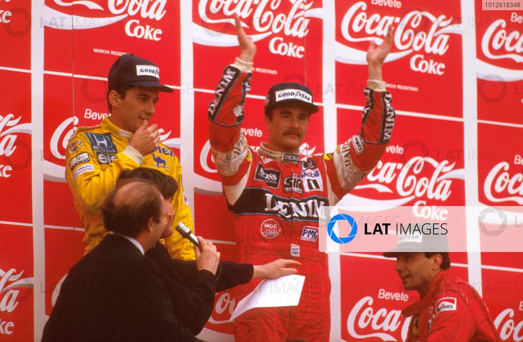 1987 San Marino Grand Prix.