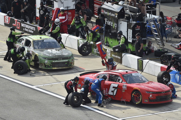 #6: Ryan Vargas, JD Motorsports, Chevrolet Camaro TeamJDMotorsports.com, #0: Jeffrey Earnhardt, JD Motorsports, Chevrolet Camaro LifeGR 9/11 Tribute