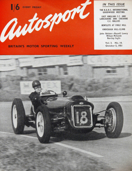 Cover of Autosport magazine, 5th October 1951