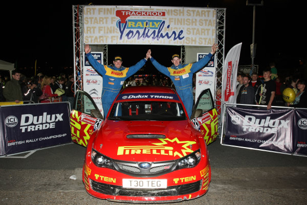 Rally Yorkshire, Scarborough, 23rd-24th September 2011Elfyn Evans/Andrew Edwards - Pirelli/TEG Sport Subaru Impreza World copyright: Jakob Ebrey/LAT Photographic