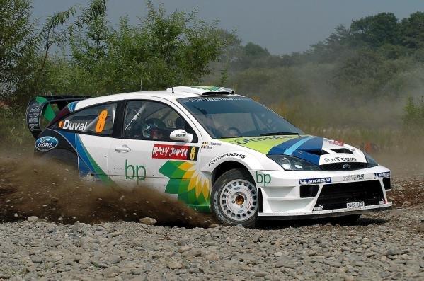 Francois Duval (BEL) Ford Focus WRC04.World Rally Championship, Rd11, Rally of Japan, Shakedown, Obihiro, Hokkaido, Japan, 2 September2004.DIGITAL IMAGE