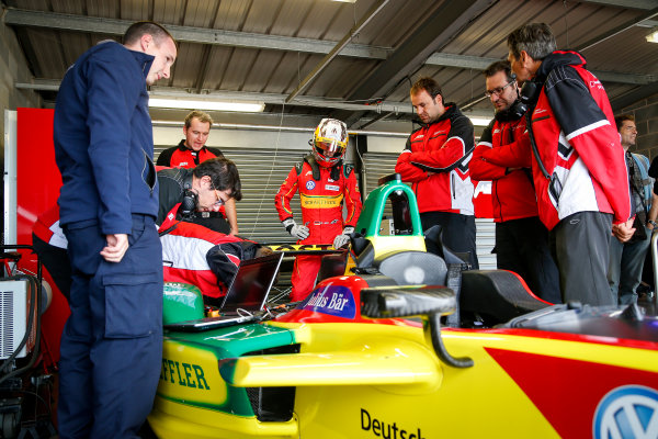 FIA Formula E Championship 2015/16. Pre-season Testing Session Six. Daniel Abt (GER), ABT Audi Sport FE01  Donington Park Racecourse, Derby, England. Tuesday 25 August 2015 Photo: Adam Warner / LAT / FE ref: Digital Image _L5R2557