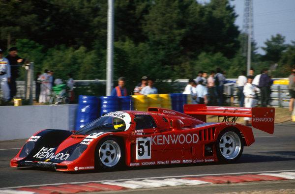 Le Mans, France. 20th - 21st June 1992.Manuel Reuter/John Nielsen/Giovanni Lavaggi (Porsche 962CK6), 7th position, action. World Copyright: LAT Photographic.Ref:  92LM14
