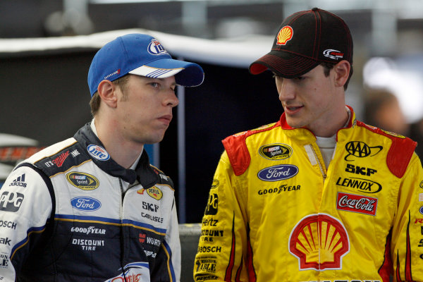 11-12 December 2012, Concord, North Carolina, USA Joey Logano Brad Keselowski.(c)2012, LAT Photo USA LAT Photo USA. .