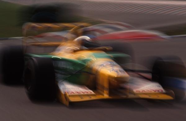 Michael Schumacher (GER) Benetton B192, 3rd place. German Grand Prix, Hockenheim, 26 July 1992