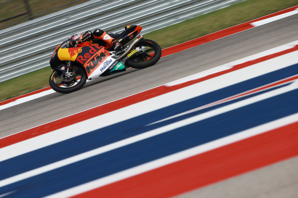 2017 Moto3 Championship - Round 3 Circuit of the Americas, Austin, Texas, USA Friday 21 April 2017 Niccolo Antonelli, Red Bull KTM Ajo World Copyright: Gold and Goose Photography/LAT Images ref: Digital Image Moto3-500-1500