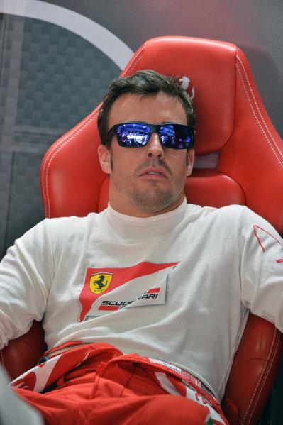 Fernando Alonso (ESP) Ferrari. Formula One World Championship, Rd4, Bahrain Grand Prix, Practice, Bahrain International Circuit, Sakhir, Bahrain, Friday 19 April 2013.