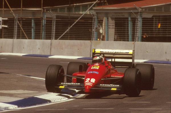 Adelaide, Australia.13-15 November 1987.Gerhard Berger (Ferrari F187) 1st position.Ref-87 AUS 02.World Copyright - LAT Photographic