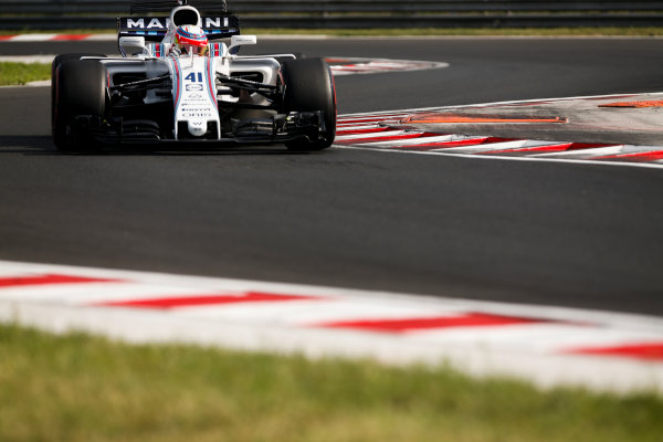 Hungaroring, Budapest, Hungary.  Wednesday 02 August 2017. Luca Ghiotto, Williams FW40 Mercedes. World Copyright: Joe Portlock/LAT Images  ref: Digital Image _L5R2050