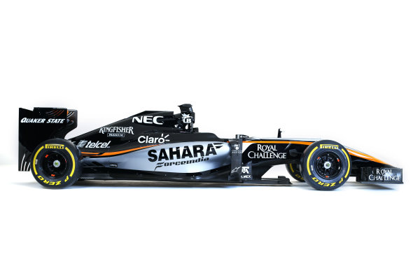 Force India VJM08 Livery Reveal Museo Soumaya, Mexico City, Mexico Wednesday 21 January 2015. World Copyright: Sahara Force India (Copyright Free) ref: Digital Image jm1521ja04