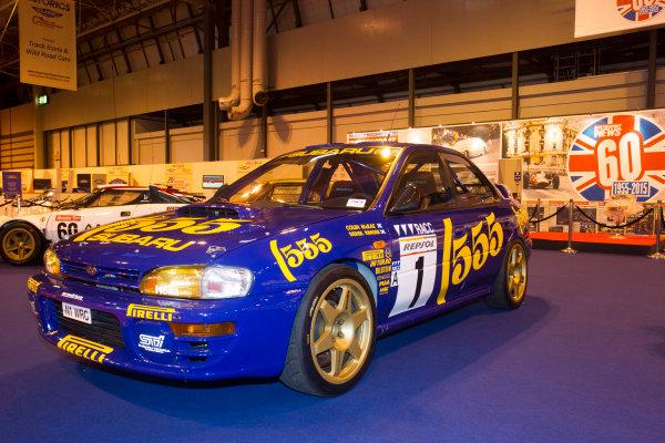 Autosport International Exhibition. National Exhibition Centre, Birmingham, UK. Thursday 8 January 2015. The Subaru Impreza of Colin McRae on the Motorsport News stand. World Copyright: LAT Photographic. ref: Digital Image EL0G1854