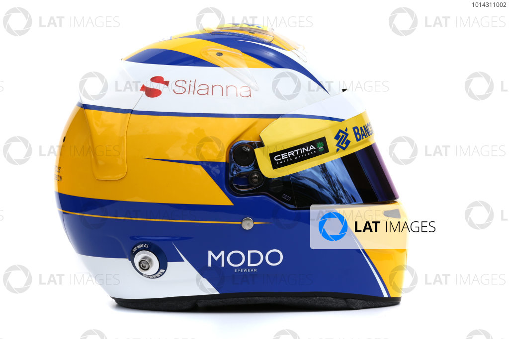 Albert Park, Melbourne, Australia. Helmet of Marcus Ericsson, Sauber.  Thursday 12 March 2015. World Copyright: LAT Photographic. ref: Digital Image 2015_Helmet_024