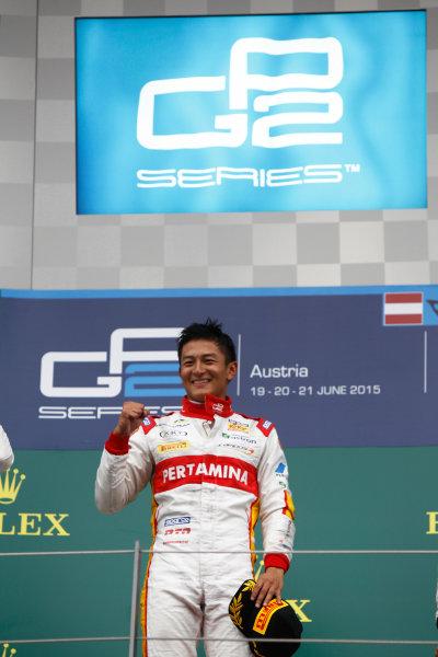 2015 GP2 Series Round 4. Red Bull Ring, Spielberg, Austria. Sunday 21 June 2015. Rio Haryanto (INA, Campos Racing)  Photo:  Sam Bloxham/GP2 Media Service ref: Digital Image _G7C6480