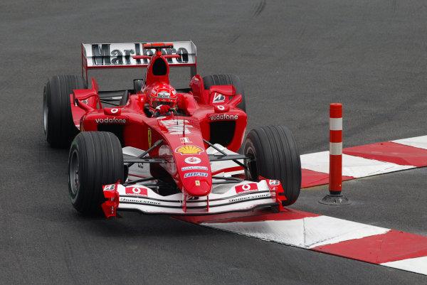 2004 Monaco Grand Prix - Thursday Practice,Monaco. 20th May 2004 Michael Schumacher, Ferrari F2004, action.World Copyright: Steve Etherington/LAT Photographic ref: Digital Image Only