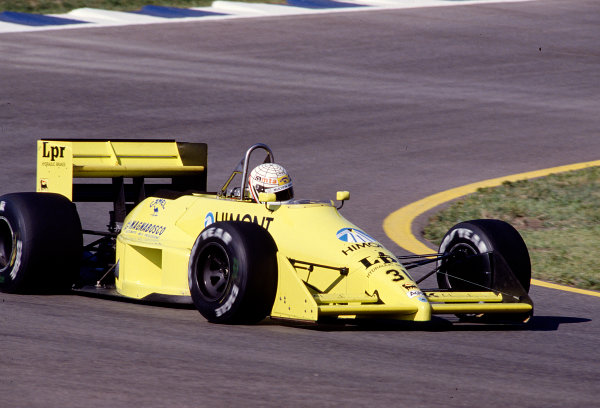 1988 Spanish Grand Prix.Jerez, Spain.30/9-2/10 1988.Gabriele Tarquini (Coloni FC188B Ford).Ref-88 ESP 23.World Copyright - LAT Photographic