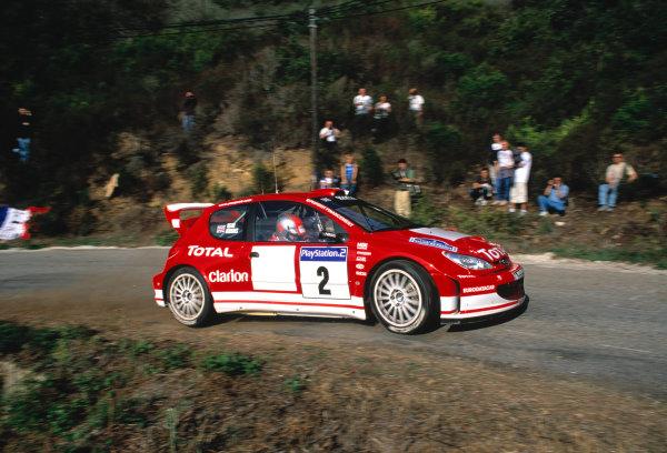 2003 World Rally Championship Tour De Corsica. 15th - 19th October 2003. Richard Burns/Robert Reid (Peugeot 206 WRC),action. World Copyright: McKlien/ LAT Photographic ref: 35mm Corsica 20