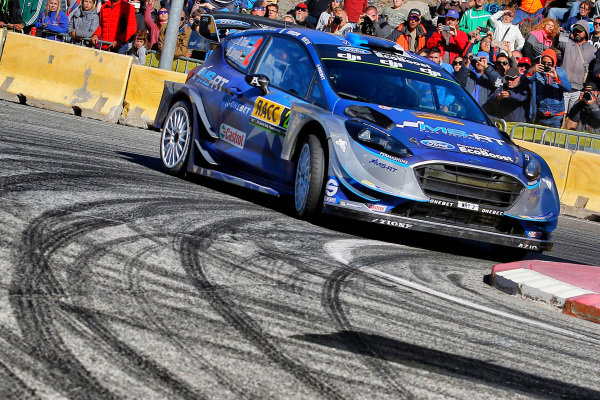 Ott Tanak (EST) / Martin Jarveoja (EST), M-Sport World Rally Team Ford Fiesta WRC at World Rally Championship, Rd11, RAAC Rally de Espana, Day Three, Costa Daurada, Catalunya, Spain, 8 October 2017.