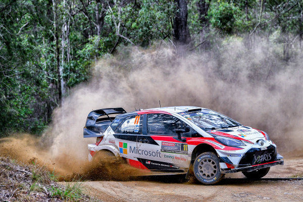 Esapekka Lappi (FIN) / Janne Ferm (FIN), Toyota Gazoo Racing WRT Toyota Yaris WRC at World Rally Championship, Rd13, Rally Australia, Day Two, Coffs Harbour, New South Wales, Australia, 18 November 2017.