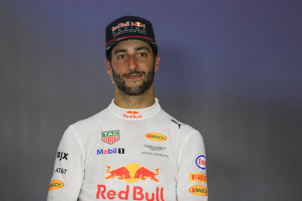 Daniel Ricciardo (AUS) Red Bull Racing in the Press Conference at Formula One World Championship, Rd9, Austrian Grand Prix, Race, Spielberg, Austria, Sunday 9 July 2017.