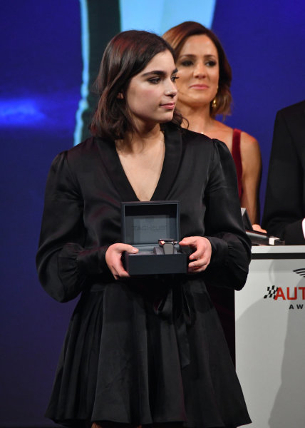 BRDC Racing Driver of the Year nominee Jamie Chadwick with her watch