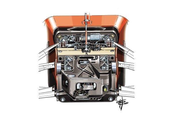 Ferrari SF1000 front suspension