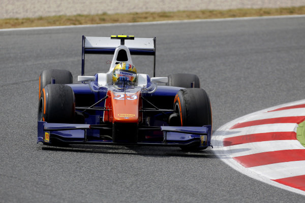 Race winner Johnny Cecotto (COL) Trident. GP2 Series, Rd2, Barcelona, Spain, 9-11 May 2014.