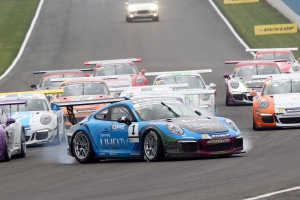 2014 Porsche Carrera Cup,Donington Park, 19th-20th April 2014,Michael Meadows (GBR) Redline Racing Porsche Carrera CupWorld copyright. Ebbrey/LAT Photographic