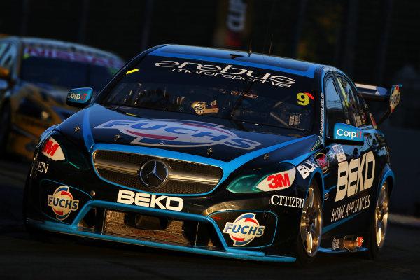 2014 V8 Supercar Championship. Round 1. Clipsal 500, Adelaide. 3rd March 2014. Sunday Race 2 .  Will Davison drives the #9 Erebus Motorsport V8 Mercedes Action.  World Copyright: Daniel Kalisz/LAT Photographic Ref: Digital Image040314DKIMG0024.JPG