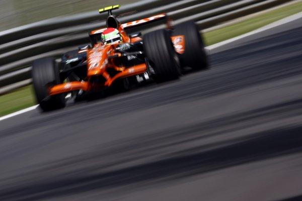2007 Italian Grand Prix - Friday PracticeAutodromo di Monza, Monza, Italy.7th September 2007.Sakon Yamamoto, Spyker F8-VII Ferrari. Action. World Copyright: Lorenzo Bellanca/LAT Photographicref: Digital Image _64I5103