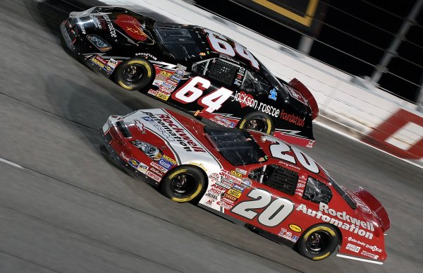 12-13 May, 2006, Darlington Raceway,USA Denny Hamlin races Jammie McMurray in the Busch raceCopyright©LAT South, LAT Photographic
