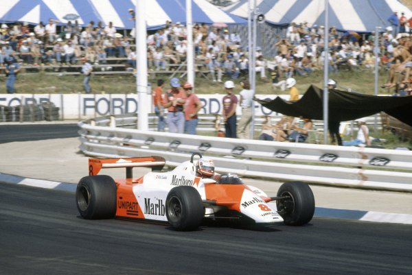 1982 South African Grand Prix.Kyalami, South Africa. 21-23 January 1982.Niki Lauda (McLaren MP4/1B-Ford Cosworth), 4th position.World Copyright: LAT PhotographicRef: 35mm transparency 82SA13