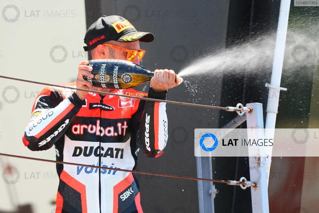 2017 Superbike World Championship - Round 7 Misano, Italy. Sunday 18 June 2017 Podium: Race winner Marco Melandri, Ducati Team World Copyright: Gold and Goose Photography/LAT Images ref: Digital Image WSBK-Post-500-9271 1.20.17 AM