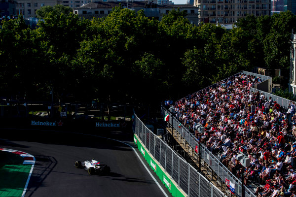 Baku City Circuit, Baku, Azerbaijan. Sunday 25 June 2017. Lance Stroll, Williams FW40 Mercedes. World Copyright: Zak Mauger/LAT Images ref: Digital Image _56I8998