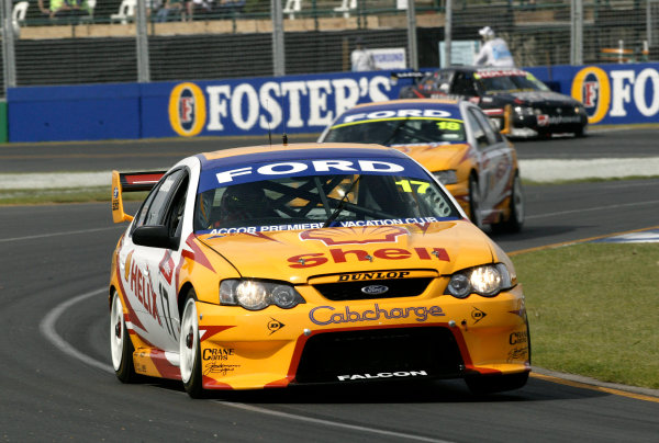 2004 Australian V8 Supercars.Non-Championship Round. Albert Park, Melbourne, 5th - 7th March.Reigning V8 Supercar champion Steve Richards in action in his Ford Falcon BA. World Copyright: Mark Horsburgh/LAT Photographicref: Digital Image Only