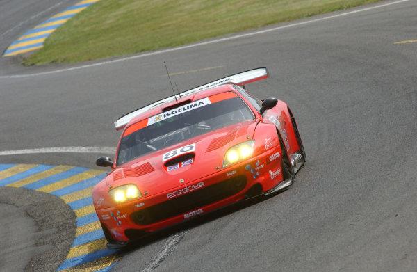2003 Le Mans 24 HoursLe Mans, France. 14th June 2003The Ferrari GTS of Burt/Davidson/Turner.World Copyright: Jeff Bloxham/LAT Photographicref: Digital Image Only