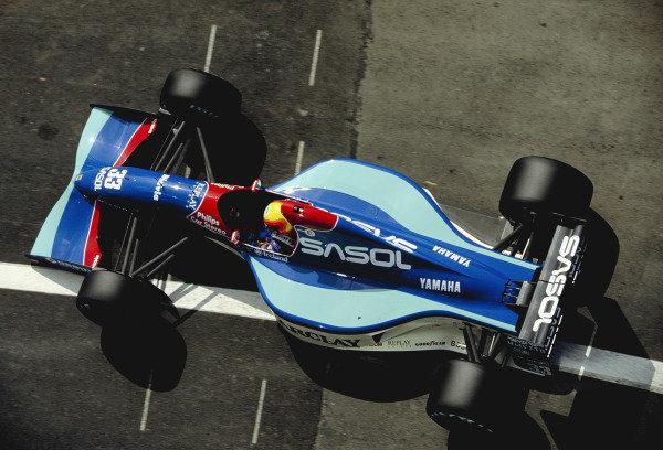 1992 Spanish Grand Prix.Catalunya, Barcelona, Spain. 1-3 May 1992.Mauricio Gugelmin (Jordan 192 Yamaha).Ref-92 ESP 29.World Copyright - LAT Photographic