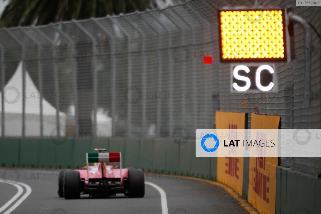 Albert Park, Melbourne, Australia 25th March 2011. Felipe Massa, Ferrari 150° Italia. Action.  World Copyright:Charles Coates/LAT Photographic ref: Digital Image _X5J0471