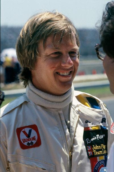 Jacarepagua, Rio de Janeiro, Brazil. 27-29 January 1978. Ronnie Peterson ( Lotus 78-Ford), retired, portrait.  World Copyright: LAT Photographic. Ref: 78BRA32