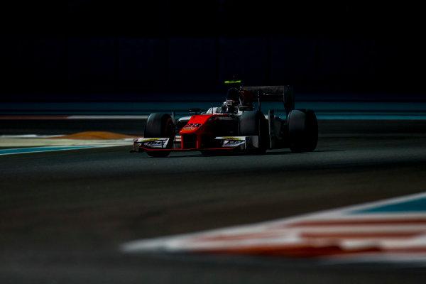 2016 GP2 Series Test 3 Yas Marina Circuit, Abu Dhabi, United Arab Emirates. Friday 2 December 2016. Mahaveer Raghunathan (IND, MP Motorsport)  Photo: Zak Mauger/GP2 Series Media Service. ref: Digital Image _L0U4828