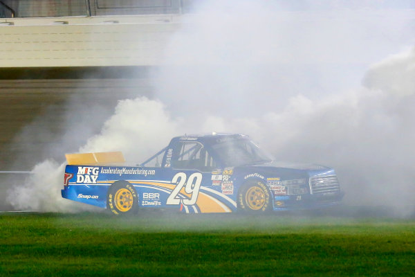 1 October, 2016, Las Vegas, Nevada USA Tyler Reddick celebrates his win with a burnout  ?2016, Russell LaBounty LAT Photo USA