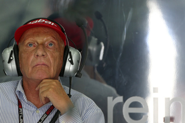 Niki Lauda (AUT) Mercedes AMG F1 Non-Executive Chairman. Formula One World Championship, Rd2, Malaysian Grand Prix, Practice, Sepang, Malaysia, Friday 22 March 2013.